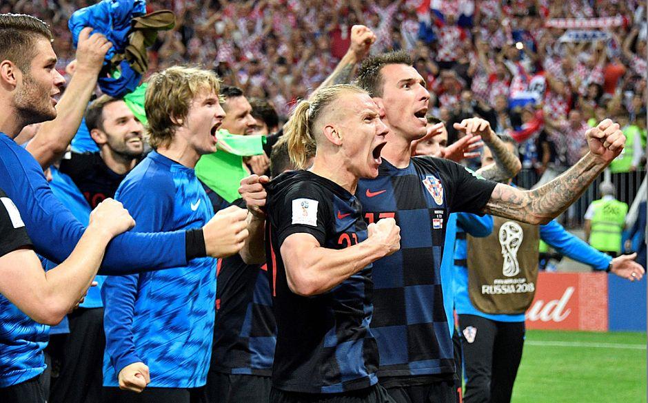 Croácia comemorando